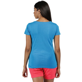 Regatta Breezed Camiseta Mujer, blue aster